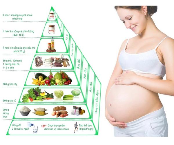Chế độ dinh dưỡng cho bà bầu (Nguồn hình anh: Internet)