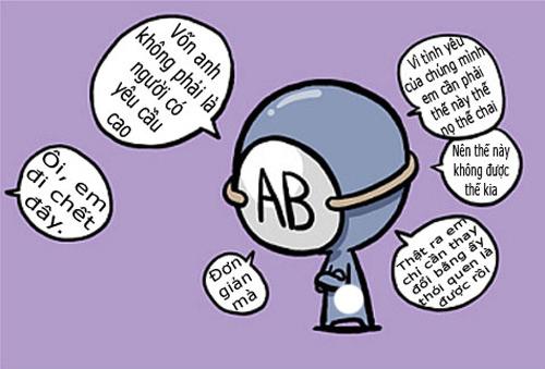 Nhóm máu AB và tính cách
